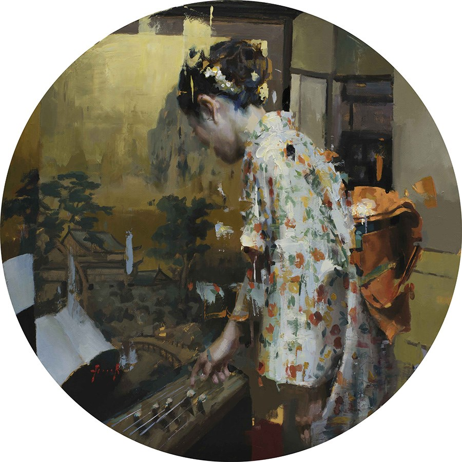 Koto by Christian Hook - Limited Editon on Paper sized 30x30 inches. Available from Whitewall Galleries